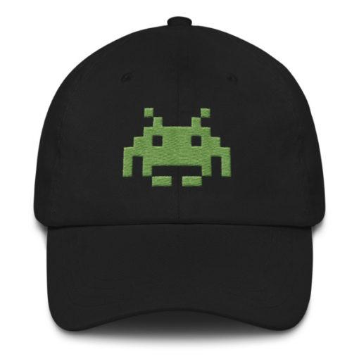 b270ed90945 Pixel Alien Dad Hats