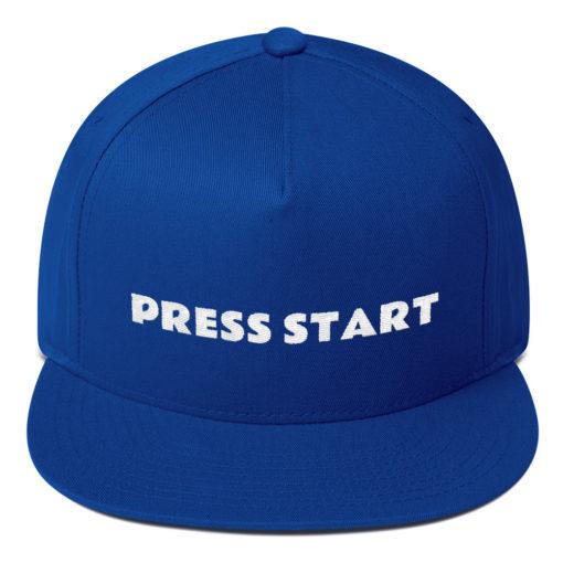 Press Start Flat Bill Hat