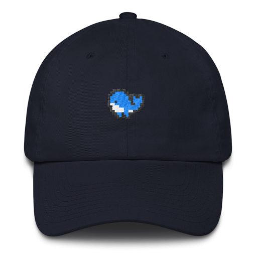 Pixel Whale Dad Hat