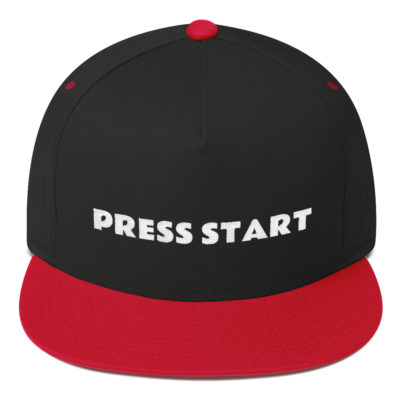 Press Start Flat Bill Hat
