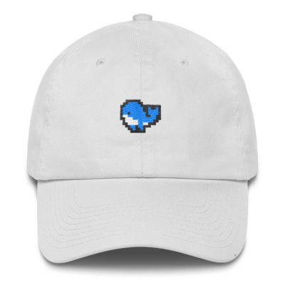 Pixel Whale Dad Hat