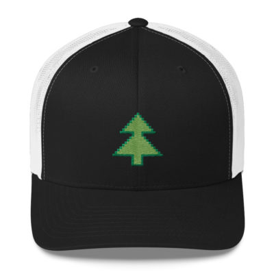 Pixel Tree Trucker Hat