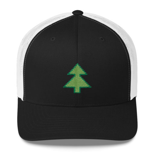 Pixel Tree Trucker Hat