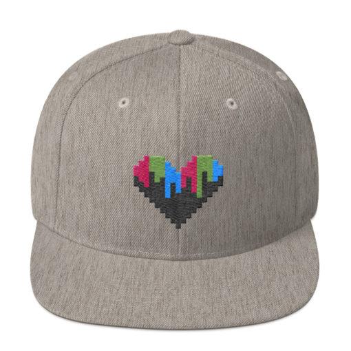 Pixel Heart Snapback Hat