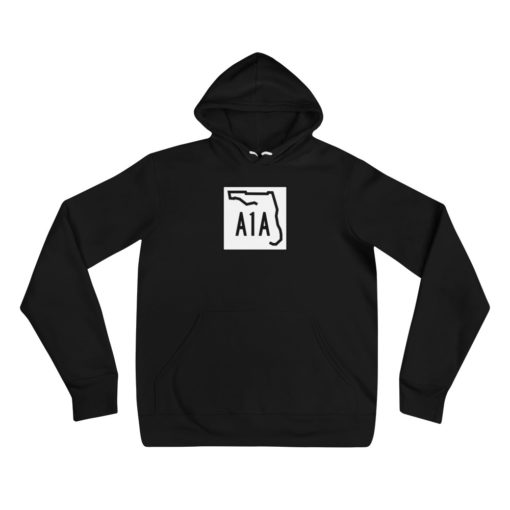 florida a1a road sign hoodie black