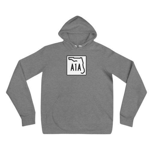florida a1a road sign hoodie gray