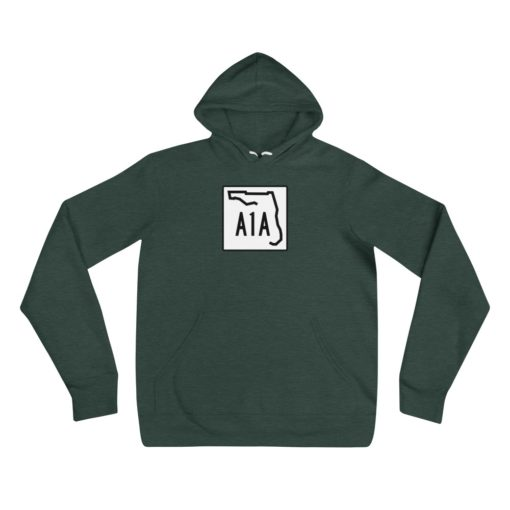 florida a1a road sign hoodie green