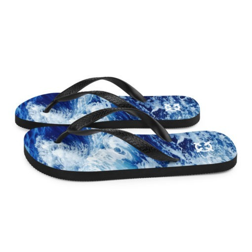 Ocean Wave Flip-Flops