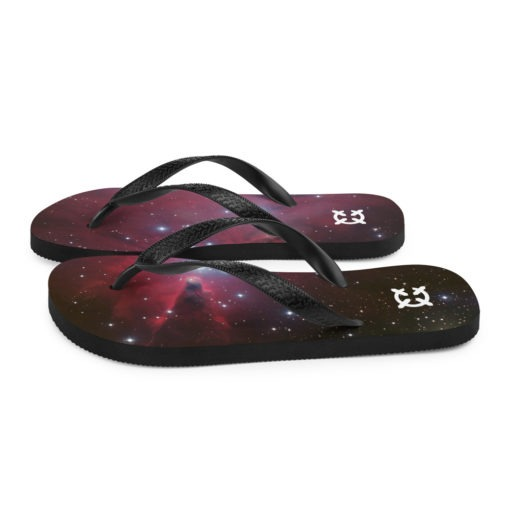 Space Themed Flip-Flops