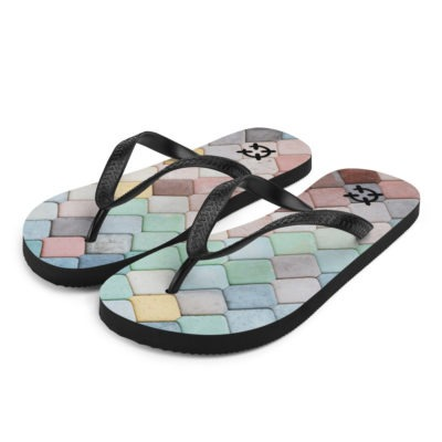 Mermaid Scale Flip-Flops